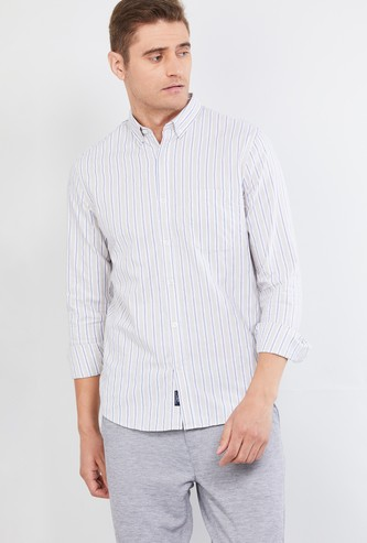 MAX Striped Cotton Casual Slim Fit Shirt