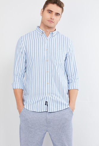 MAX Striped Casual Shirt with Button-Down Collar
