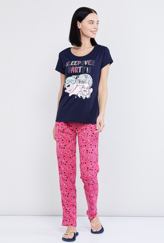 MAX Printed T-shirt and Elasticated Pant