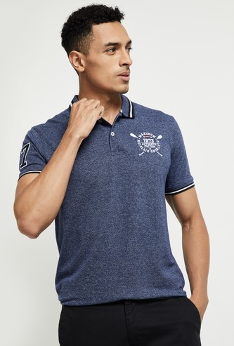 MAX Textured Short Sleeves Polo T-shirt