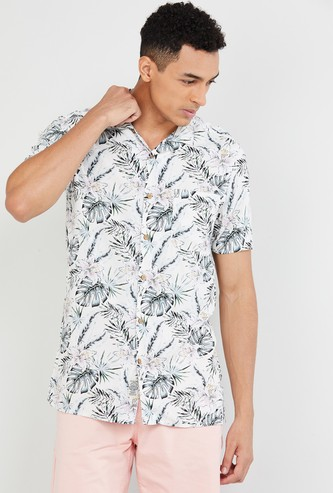 MAX Tropical Print Short Sleeves Shirt