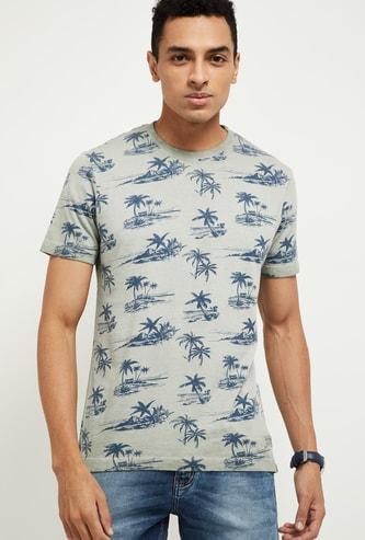 MAX Tropical Print Short Sleeves Slim Fit T-shirt