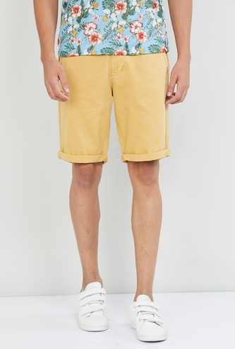 MAX Solid Stretchable Casual Shorts