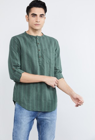 MAX Striped Full Sleeves Kurta