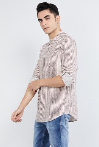 MAX Striped Full Sleeves Kurta