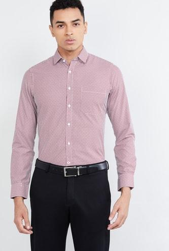 MAX Micro Checked Slim Fit Formal Shirt