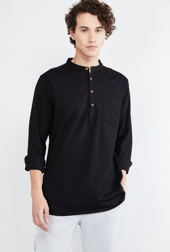 MAX Solid Shirt Kurta with Patch Pocket