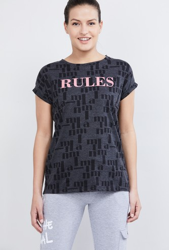 MAX Printed Round Neck Sports T-shirt