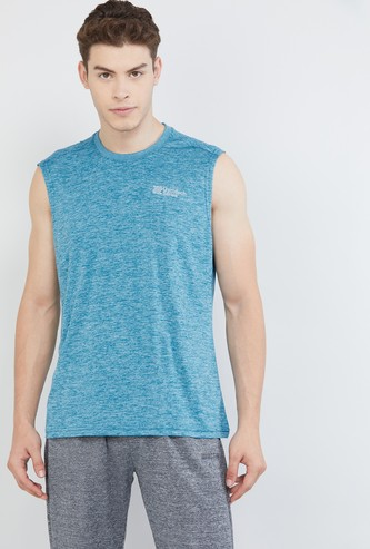MAX Solid Sleeveless Sports T-shirt