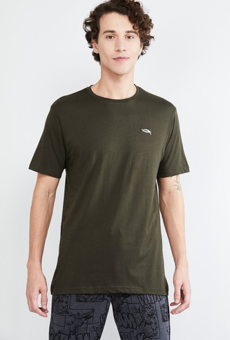 MAX Textured Crew-Neck T-shirt