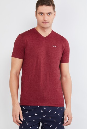 MAX Textured V-neck Lounge T-shirt