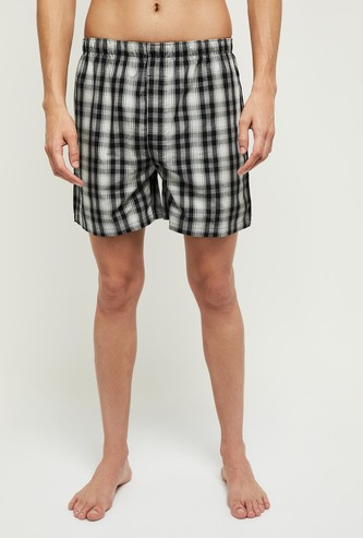MAX Checked Boxers with Elasticated Waistband