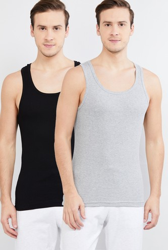 MAX Solid Antibacterial by N9 Racerback Vests- Pack of 2