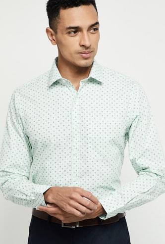 MAX Printed Full Sleeves Formal Shirt