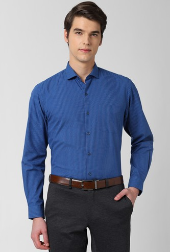 PETER ENGLAND Textured Full Sleeves Formal Shirt