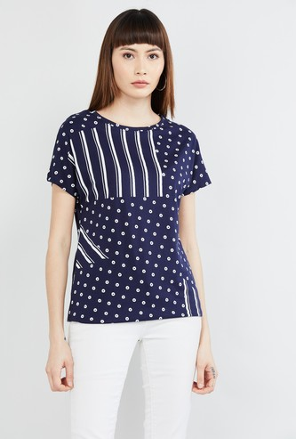 MAX Printed Round-Neck T-shirt