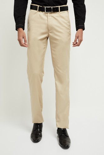 MAX Solid Slim Fit Formal Trousers
