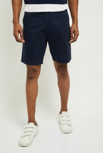 MAX Solid Slim Fit Stretchable Casual Shorts