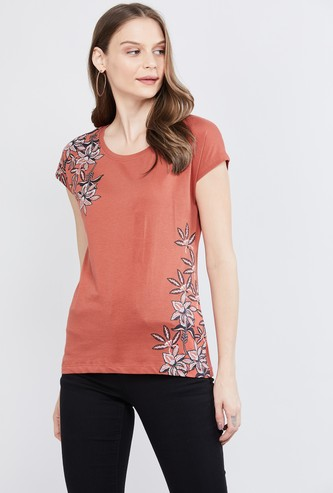 MAX Printed Extended Sleeves T-shirt