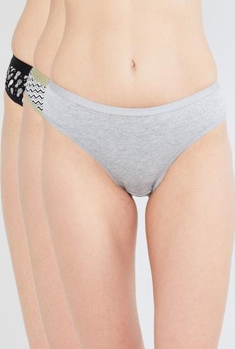 MAX Printed Elasticated Panties - Set of 3 Pcs