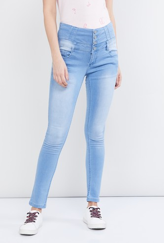 MAX Lightly Washed High-Rise Skinny Jeans