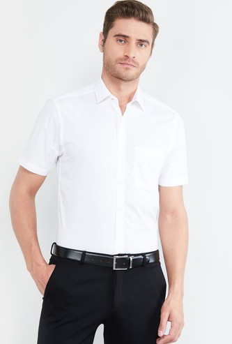 MAX Textured Short Sleeves Formal Shirt