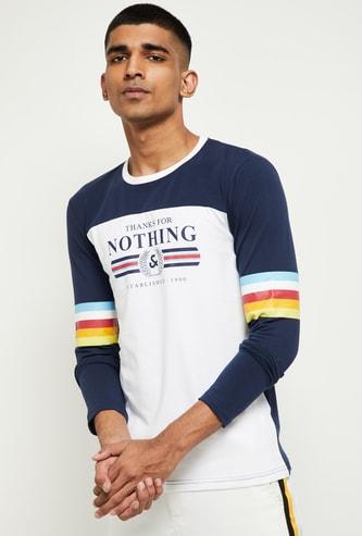 MAX Colourblocked Full Sleeves T-shirt