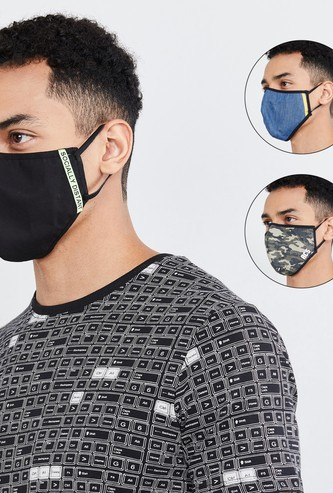 MAX Printed Face Mask- Set of 3