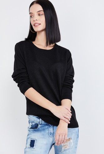 MAX Textured Round-Neck Sweater