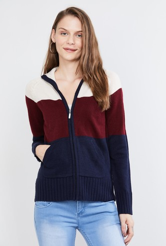 MAX Textured Zip-Closure Sweater