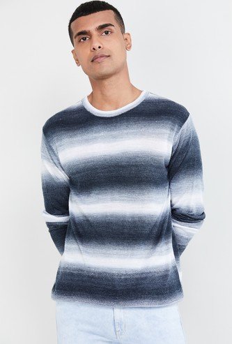 MAX Ombre-Design Crew Neck Sweater