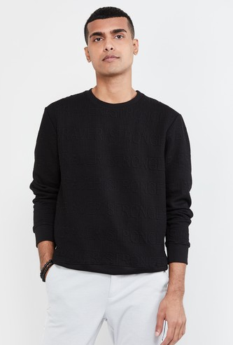 MAX Embossed Crew Neck Sweatshirt