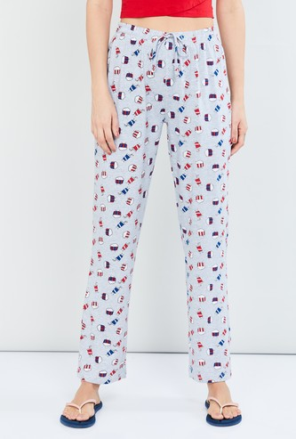 MAX Printed Pyjamas with Drawstring Waist