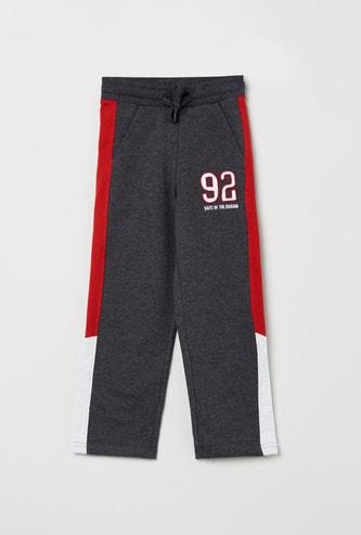 MAX Colourblock Track Pants with Applique Detail