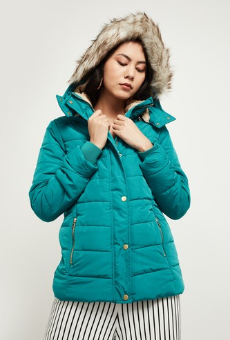MAX Padded Puffer Jacket with Detachable Hood