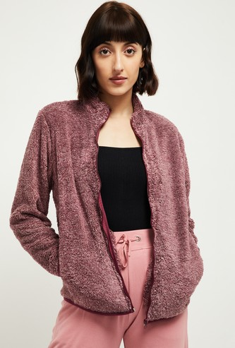 MAX Zip-Front Jacket with Faux-Fur Trim