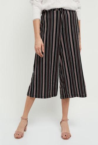 MAX Striped Woven Culottes