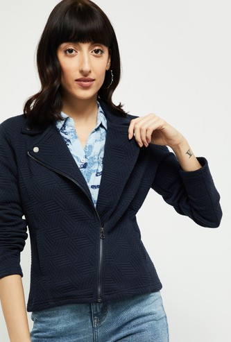 MAX Textured Collared Jacket