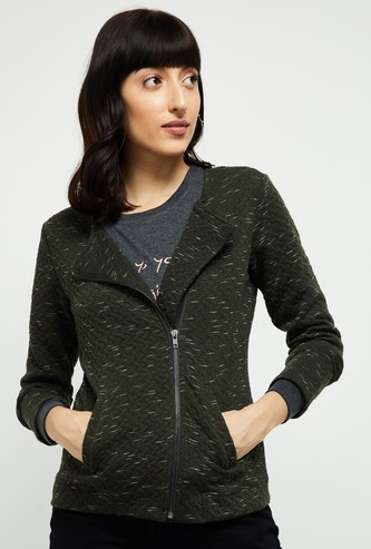 MAX Textured Full-Sleeves Jacket
