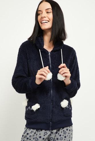 MAX Fuzzy Hooded Lounge Sweatshirt