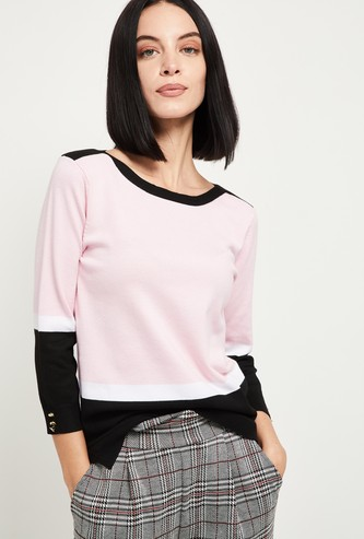 MAX Colourblock Round-Neck Pullover