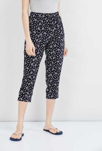 MAX Printed Elasticated Capris