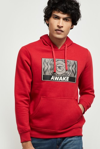 MAX Graphic Print Full Sleeves Hooded Sweatshirt