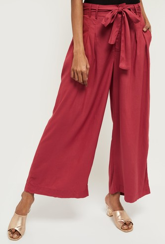 MAX Solid Elasticated Flared Pants