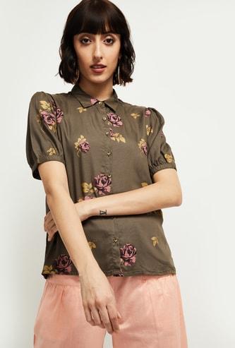 MAX Floral Print Casual Shirt