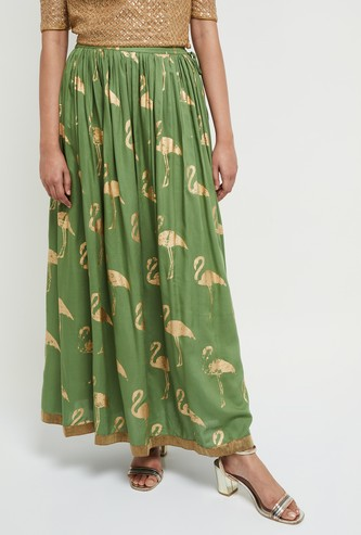 MAX Printed Maxi Skirt