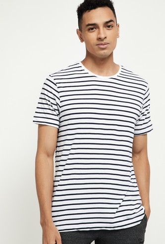 MAX Striped Crew-Neck Lounge T-shirt