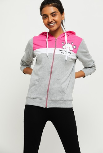 MAX Colorblocked Hooded Lounge Sweatshirt