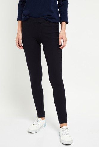 MAX Solid Jeggings with Scoop Pockets