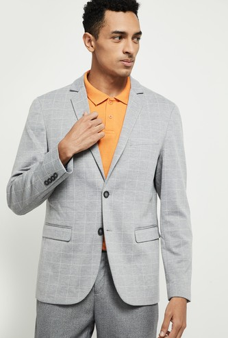 MAX Checked Full Sleeves Blazer